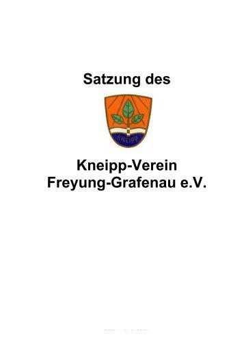 Satzung des Kneipp-Verein Freyung-Grafenau e.V.