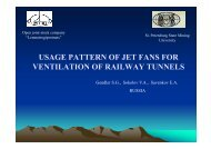 usage pattern of jet fans for ventilation of railway tunnels