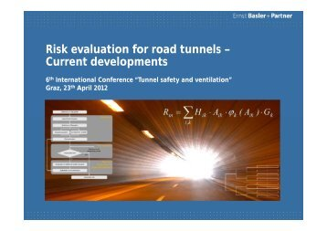 Risk evaluation for road tunnels – Current developments