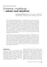 Forskning i musikterapi – voksne med skizofreni - VBN - Aalborg ...