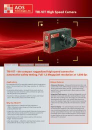 TRI-VIT High Speed Camera - AOS Technologies AG