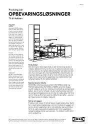 OPBEVARINGSLØSNINGER - Ikea
