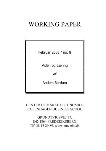 wp 08 - viden og laering.pdf - OpenArchive@CBS