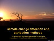 Climate change detection and attribution methods