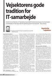 Vejsektorens gode tradition for IT-samarbejde - Dansk Vejtidsskrift