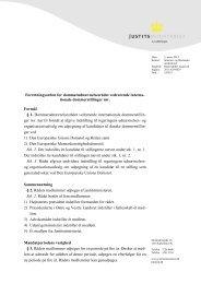 Forretningsorden for dommerudnævnelsesrådet vedrørende interna ...