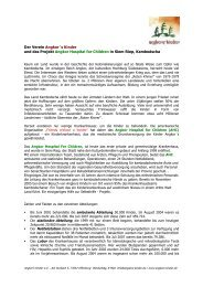 Der Verein Angkor´s Kinder und das Projekt ... - Angkors Kinder