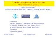 Ladder Topologies for Massive 3-Loop Operator Matrix Elements