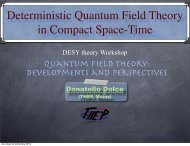Deterministic Quantum Field Theory in Compact Space-Time