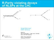 R-Parity violating decays of NLSPs at the LHC . - Desy