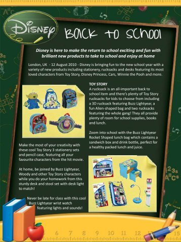 Disney is here to make the return to school exciting and fun with ...