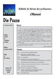 Die Pause n° 45 - Allemand @ Créteil - Académie de Créteil
