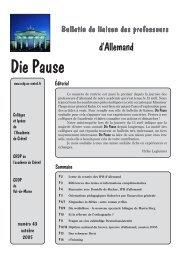 Die Pause n° 43 - Allemand @ Créteil - Académie de Créteil