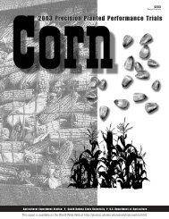 Corn 2003 Crop Performance Trials - iGrow