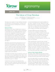 The Value of Crop Residue - iGrow