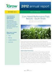 2012 Corn Hybrid Performance Trials Results - South Shore ... - iGrow