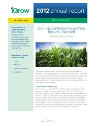 2012 Corn Hybrid Performance Trials Results - Bancroft - iGrow