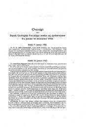 Oversigt over Dansk Geologisk Forenings møder og ekskursioner