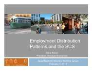 Employment Distribution Patterns and the SCS - One Bay Area