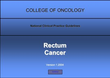 Rectum Cancer Guidelines - KCE