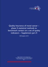 Quality Insurance of rectal cancer – phase 3: statistical ... - KCE