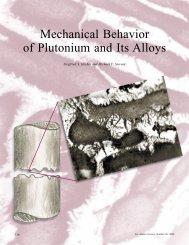 Mechanical Behavior of Plutonium and Its Alloys