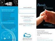 Parent Brochure - Alaska Department of Health and Social Services ...