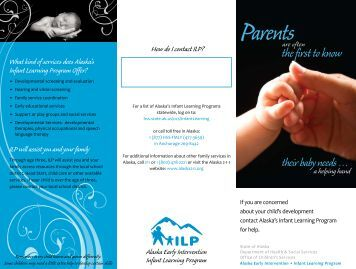 Parent Brochure - Alaska Department of Health and Social Services ...