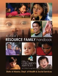 Resource Family Handbook - Alaska Department of Health and ...