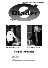 Valg på instituttet - School of Economics and Management ...