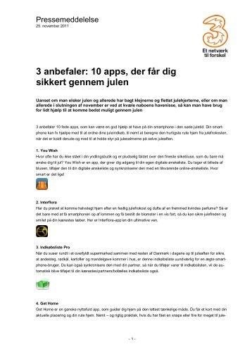 3 anbefaler: 10 apps, der får dig sikkert gennem julen - Cision