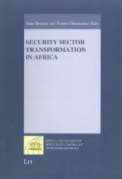 Security Sector Transformation in Africa - DCAF