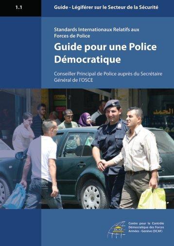 Guide pour une Police Démocratique - polis - OSCE