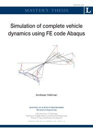 Simulation of complete vehicle dynamics using FE code Abaqus
