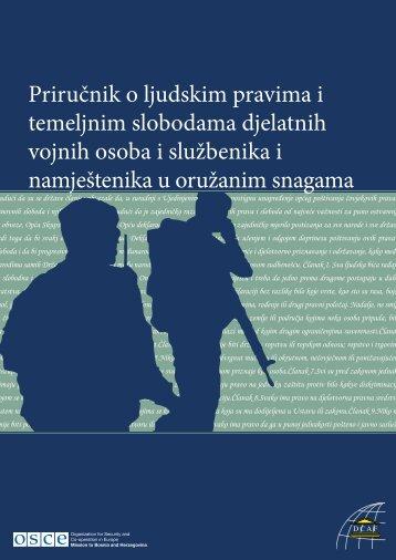 Priručnik o ljudskim pravima i temeljnim slobodama djelatnih - DCAF