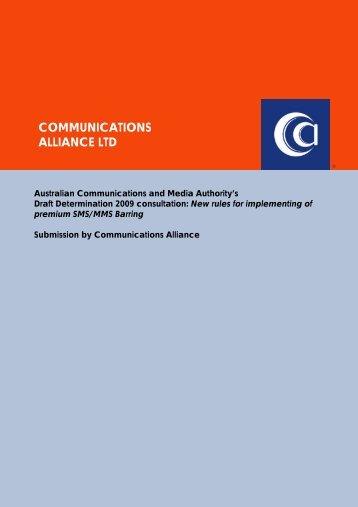 Oct-09 ACMA PSMS Barring Determination consultation