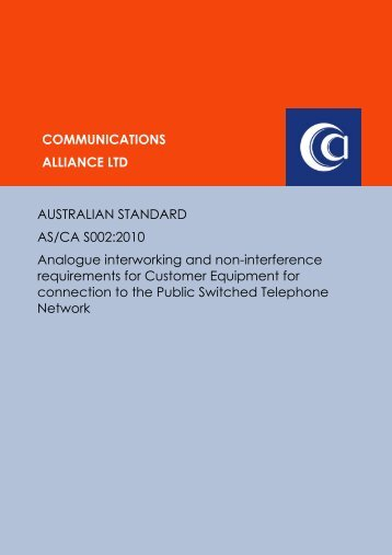 AS/CA S002:2010 - Communications Alliance