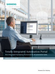 Totally Integrated Automation Portal - Siemens