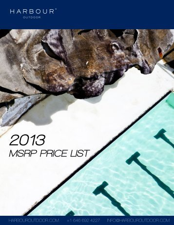 MSRP PRICE LIST - Harbour Outdoor