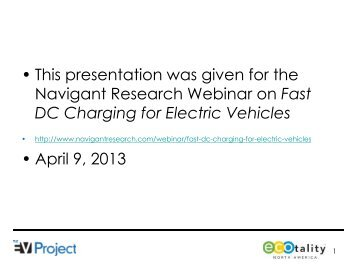 Lessons Learned on the EV Project and DC Fast Charging