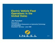 Electric Vehicle Fleet Operations in the United States - Advanced ...