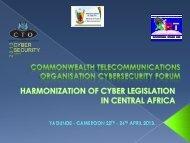 Harmonization of cyber legislation in central Africa - Commonwealth ...
