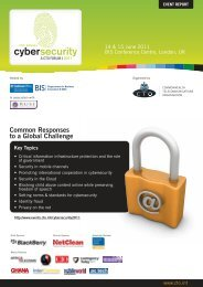 Cybersecurity Forum 2011 Report - Commonwealth Telecommunications ...