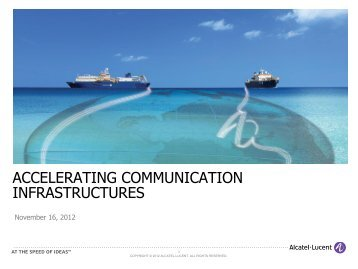 Acclerating Communication Infrastructures