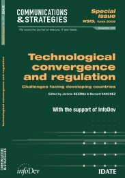 Technological convergence and regulation - Commonwealth ...