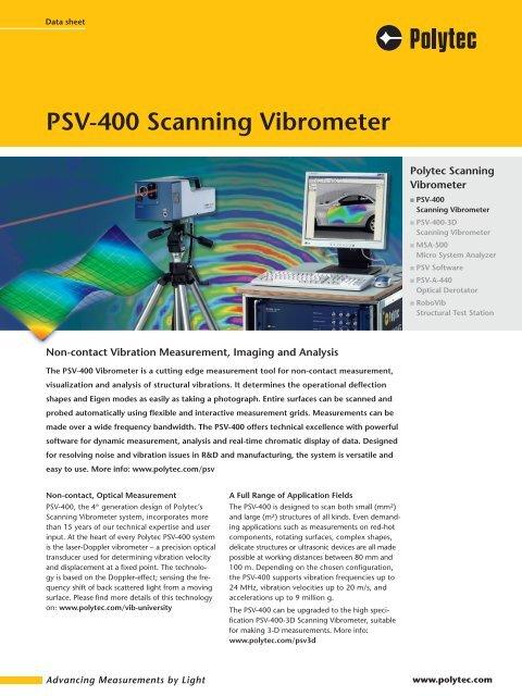 PSV-400 Scanning Vibrometer