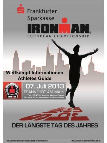 Wettkampfinformationen 2013 - Ironman European Championship