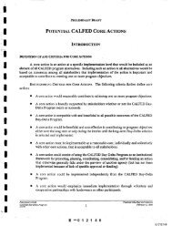 potential calfed core actions - CALFED Bay-Delta Program - State of ...