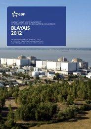 BLAYAIS 2012 - Energie EDF