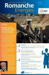 Romanche Energies n°5 - Mars 2011 (PDF 2226 Ko) - Energie EDF